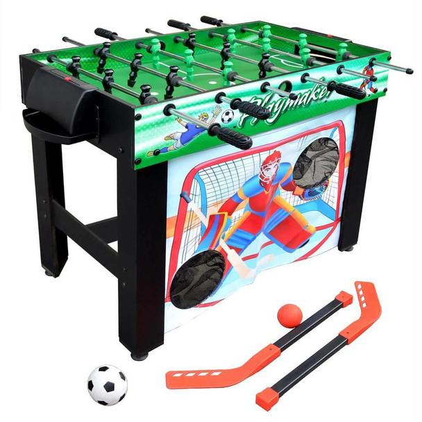 Blue Wave Playmaker 3-in-1 Foosball Multi-Game Table