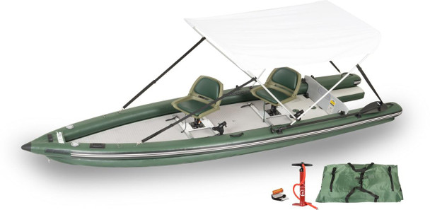 Sea Eagle Sea Eagle FSK16 2 Person Swivel Seat Canopy Boat Package