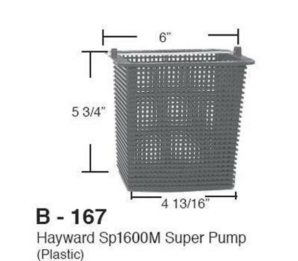 Aladdin Replacement Strainer Basket for Hayward Super Pump SPX1600M