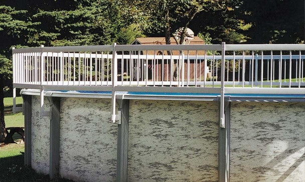 GLI Pool Products Above-Ground Pool Deck Compatible Fencing 3 Pack Add-On Kit B