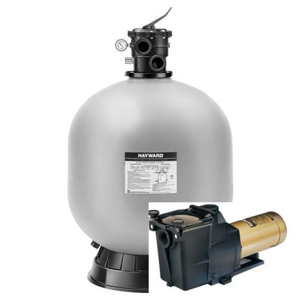 Hayward Hayward W3S244T Sand Filter and Hayward Super pump 1 HP