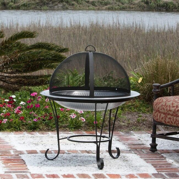 Well Traveled Living Stainless Steel Cocktail Fire Pit