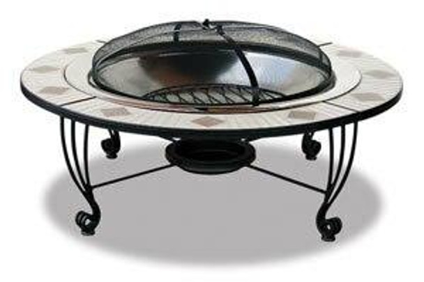 Uniflame Mosaic Tile Stainless Steel Fire Pit