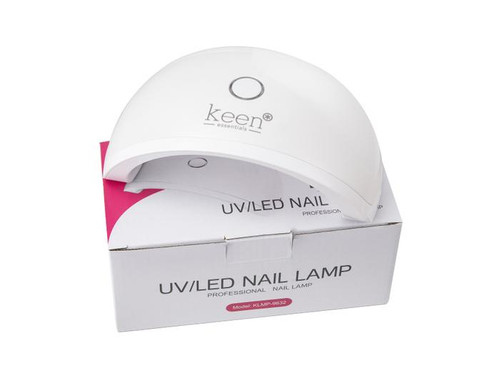 KEEN Manicure Equipment UV Nail Dryer Lamp DEMI, 10W LED, Compatible with LED Gel Nail Polishes, Energy Saver, White