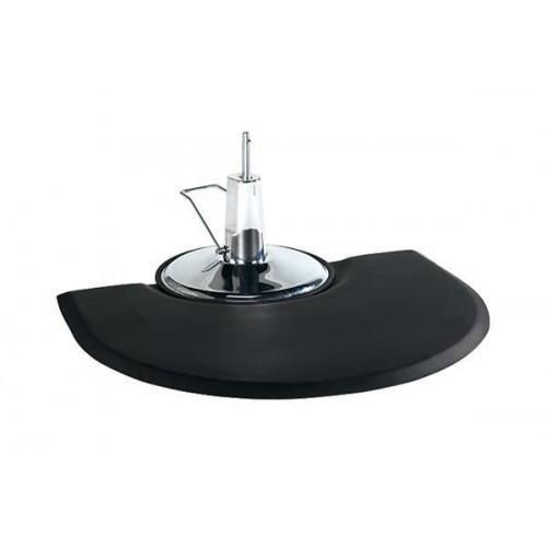 "Deco Salon Salon Mat - Semi Circle / Semi Circle 3' X 4' X 1"""