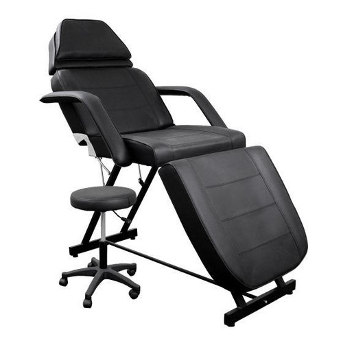 Deco Salon Furniture Facial Bed, black with free tech stool