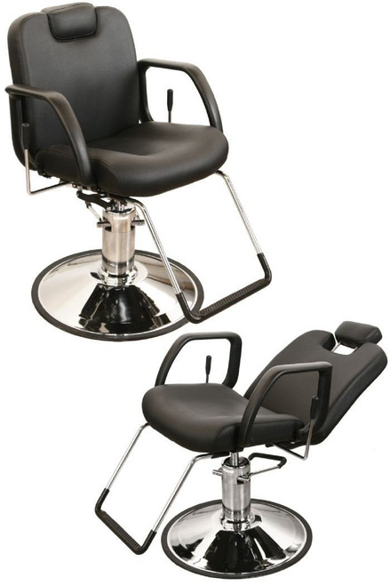 Jeffco 30512 NU All Purpose Chair w/ Built-In Headrest, Molded Arms & Oversized DG Base