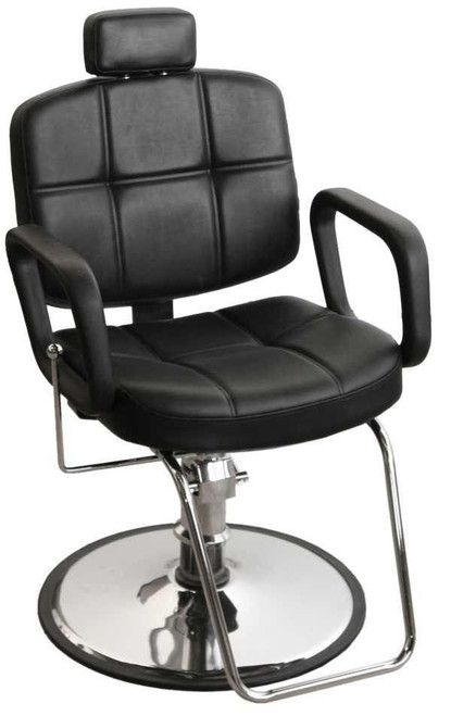 Jeffco 6366 Raleigh All Purpose Chair w/ Retractable Head Rest & Standard G Base