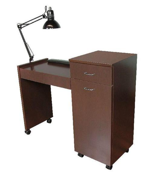 "Jeffco Nail Salon Furniture Manicure Nail Table, JAVA, 42"""