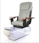 ANS Ceneta Pedicure Chair, ANS-18 Chair top in Grey with White Base