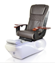 ANS Ceneta Pedicure Chair, ANS-18 Chair top in Expresso with White Base
