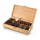 Master Massage Hot Stone Set, 50 Piece, Deluxe Basalt Package with bamboo box