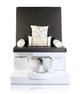 ANS Pedicure Spa Bench ARTELLI, with smooth back.  Pillows not includes
