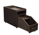 Deco Salon Pedicure Cart NIKKO chocolate with drawer out