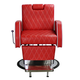 Deco Salon Furniture Barber Chair CARNEGIE, red front