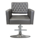 Deco Hair Salon Furniture Styling Chair, CRYSTALLI gray front