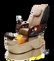 J&A Petra GX Pedicure Chair, Mocha with Metallic Gold Base