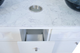 """ANS Manicure Sink, Marble Top, Regis, Double, 72"""", Center Pull-Out Cabinet (For Trash Can)"""