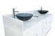 """ANS Manicure Sink, Marble Top, Regis, Double, 72"""", Sinks and Marble Countertop"""