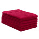 ERC Cotton Terry Towels, 16x27, Heavyweight, Premium, Red