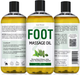 Seven Minerals Massage Oil, Foot, 16oz, Front and Back Label