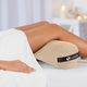 Earthlite Therapy Bolster, Stowaway Full Round in use