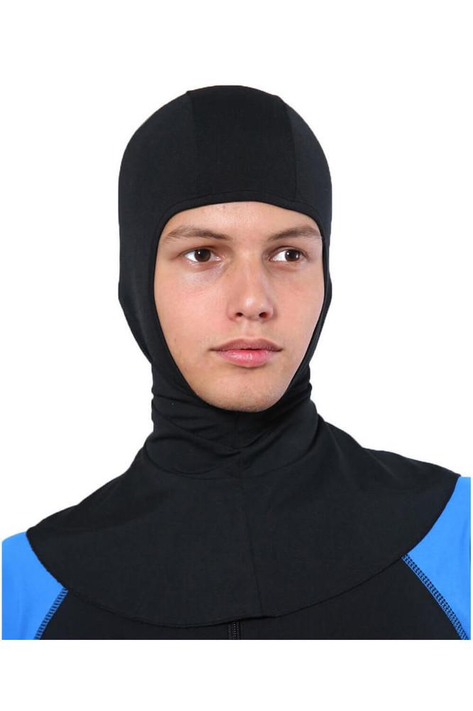Men Sun Protective Hood Balaclava UPF50+ Black (Chlorine Resistant)