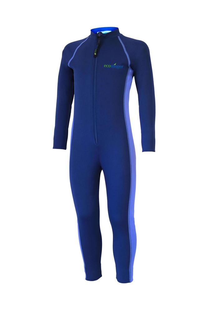 Girls Junior Full Body Swimsuit Stinger Suit UV Protection UPF50+ Navy Lavender (Chlorine Resistant)