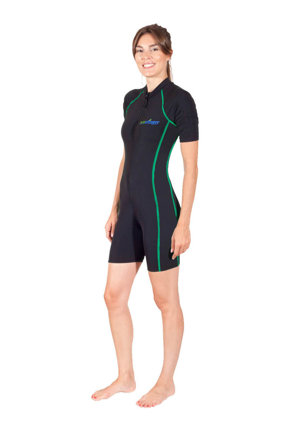 aa2ccfd8cf Women Sunsuit Short Sleeves + Pocket UV Protective Swimwear UPF50+ (Chlorine  Resistant)