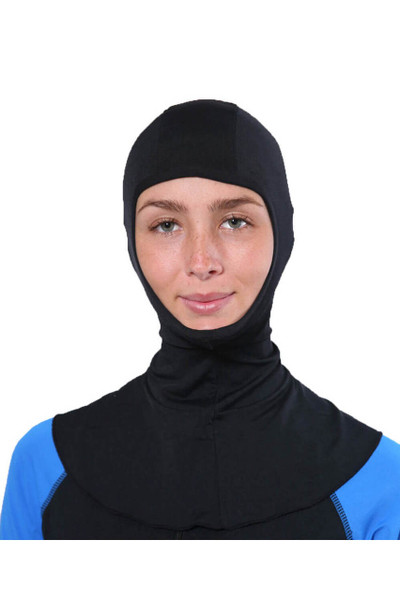 Women UV Protective Hood Balaclava UPF50+ Black (Chlorine Resistant)