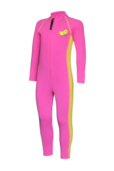 Girls Full Body Swimsuit Stinger Suit UV Protection UPF50+ Pink Yellow Seal