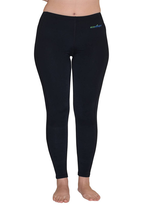 Ladies UV Protection Clothes Swim Tights Plus Size UPF50+ Black (Chlorine Resistant)