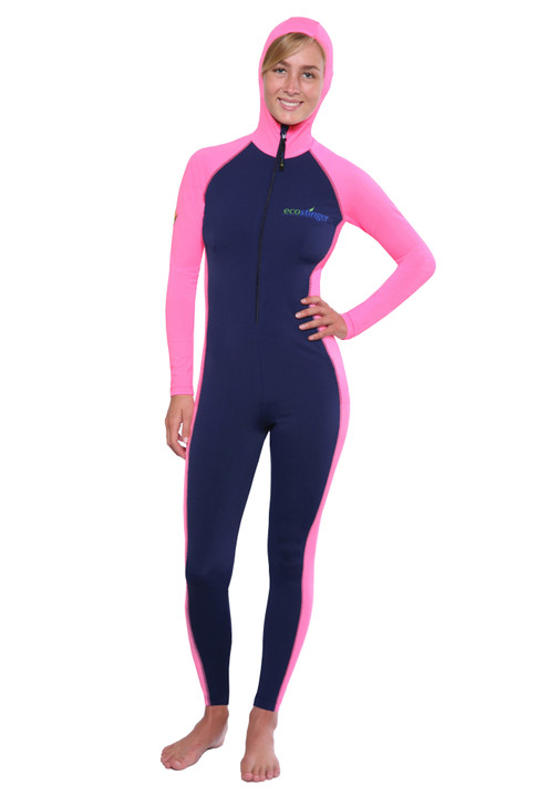 Ladies Full Body UV Swimsuit with Hood Sun Protective UPF50+ (Chlorine Resistant)