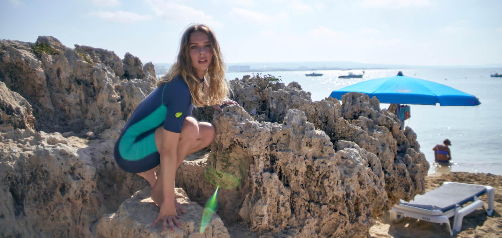 Full body cover swimsuit UV protection swimwear for women men girls and boys