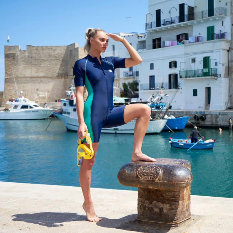 ecostinger uv protective swimwear sunsuit