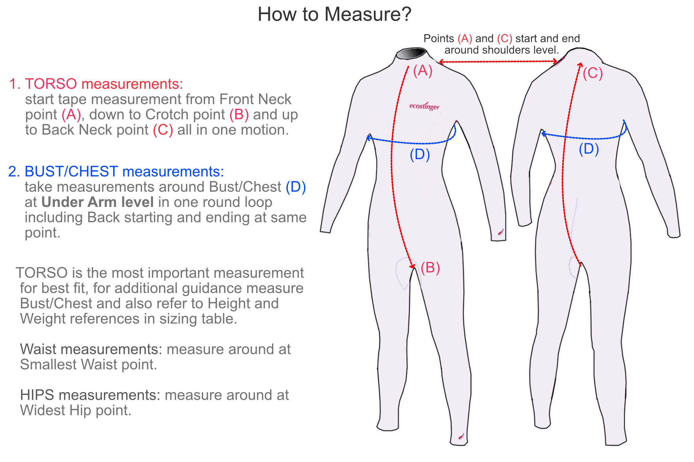 how to measure men stinger suit