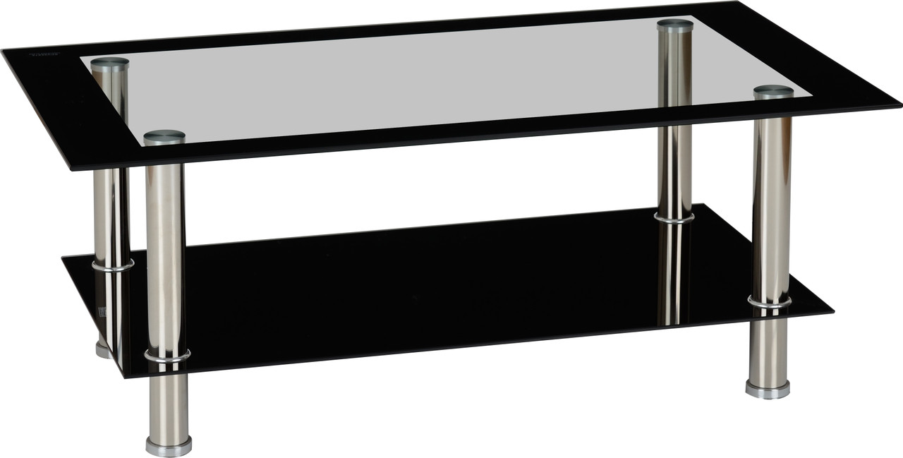 Picture of: Harlequin Black Clear Glass Coffee Table Free Delivery Own Furniture