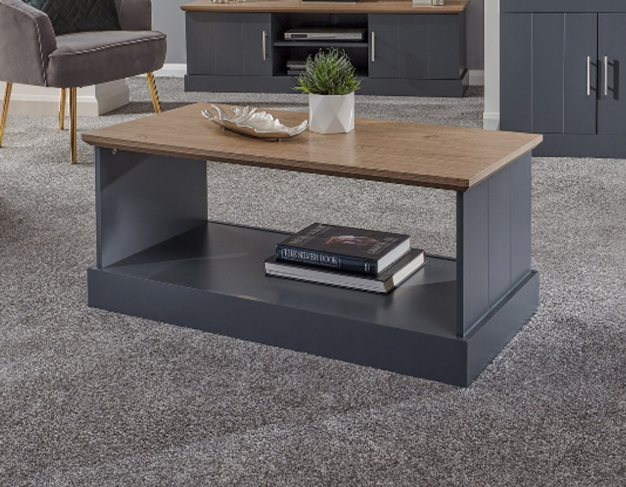 Gfw Kendal Slate Blue Coffee Table Free Delivery Own Furniture