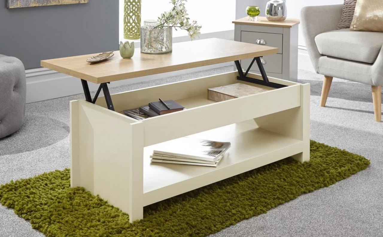 - GFW Lancaster Cream Lift-Up Coffee Table Free Delivery