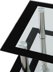 Harlequin Black & Clear Glass TV Unit