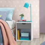 Alton Grey & White 1 Drawer Bedside Chest