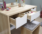 Elizabeth Oak & White Dressing Table Set