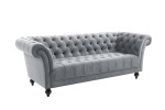 Chester Grey 3 Seater Sofa