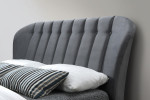 Elm Grey Velvet Bed