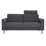 Cleveland Charcoal 2 Seater Sofa shown with optional neck pillow