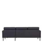 Larvik Charcoal Chaise End Right Hand Sofa with Black Legs