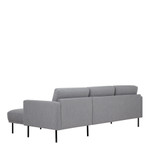Larvik Grey Chaise End Right Hand Sofa with Black Legs