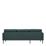 Larvik Dark Green Chaise End Left Hand Sofa with Black Legs