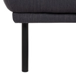 Larvik Charcoal Footstool with Black Legs