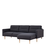 Larvik Charcoal Chaise End Right Hand Sofa with Oak Legs